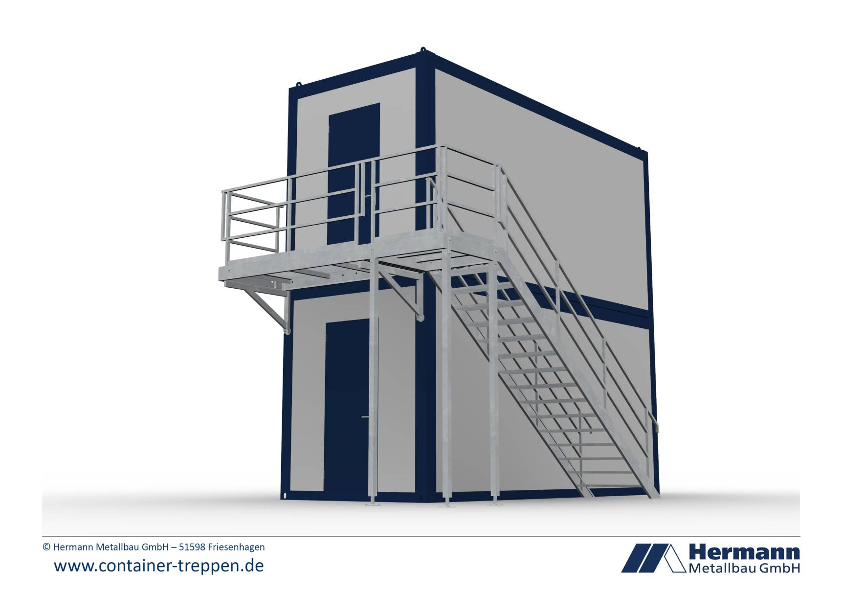 Containertreppe 2G  10